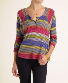 Splendid Women's 'Camden' Stripe Henley Top