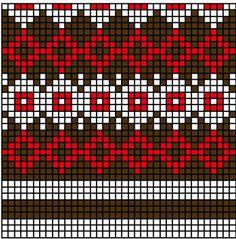 СХЕМЫ ЖАККАРДОВЫХ УЗОРОВ. Обсуждение на LiveInternet - Российский Сервис Онлайн-Дневников Motif Fair Isle, Fair Isle Chart, Fair Isle Pattern, Knitting Charts, Knitting Stitches, Knitting Designs, Knitting Patterns, Loom Bracelet Patterns, Loom Patterns