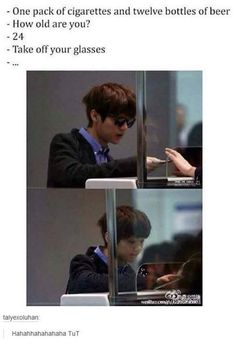 Poor Luhan he looks so young he has the face of a 5 year old but height and body of his own age <3