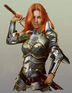 female fighter character concept
