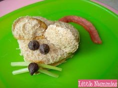 PB Mouse sandwich ideas...you could use pretzel sticks instead of celery for whiskers.