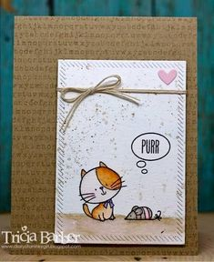 Diary of an Inky Girl…: Simple watercolor card - I Knead You