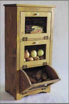 Plans For Building A Wooden Potato, Onion And Fruit  Vegie Bin