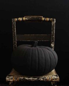 Pumpkins Painted with Flat Black Paint | 24 Beautiful And Stylish Ways To Decorate For Halloween
