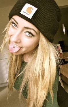 Tongue piercing. I'm really thinking about getting this. ;]