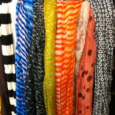 Lots of new warm weather scarves