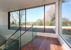 #Stairs, #modern, #Surrey, #Hallway Surrey, Entrance, Modern Stairs, Windows, Hallways, Stairs Architecture, Runners, Entryway, Door Entry