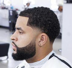 Black Boys Haircuts Fade, Boys Fade Haircut, Taper Fade Haircut, Beard Haircut, Haircuts For Men, Taper Fade Curly Hair, Curly Hair Men, Mens Braids Hairstyles, Black Men Hairstyles