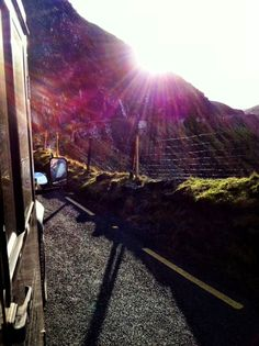 On our way to Dingle we drove through Irelands highest mountain road, the Conor Pass.
