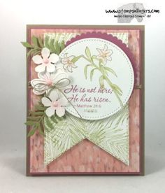 Stampin' Up! Botanical Easter Message | Stamps – n - Lingers