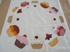 centro da toalha cupcake