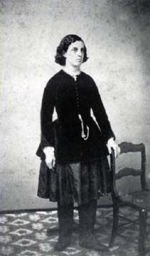 Harriet Austin, physician and co-director of Our Home on the Hill health center in Dansville, New York, c. 1865-1867; photo from Deborah Fontana Cooney