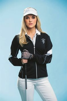 The Daily Sports Lena Golf Jacket is designed with a lightweight stretch fabric, great for golf - #golf4her.com
