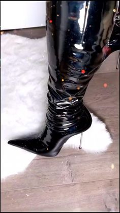 Thigh High Boots Heels, Heeled Boots, Sexy Heels, Shoes Heels, Two Piece Cocktail Dresses, Extreme High Heels, Botas Sexy, Patent Leather Boots, Fetish Fashion