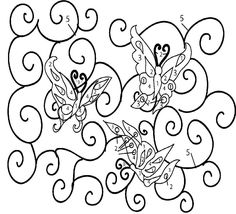 butterfly Mosaics Patterns Free Downloads | simply trace the pattern onto your surface and stitch away