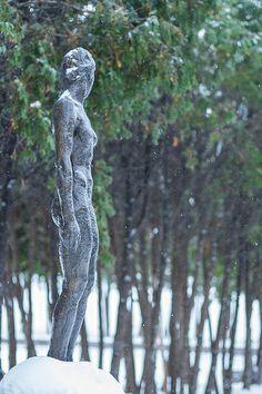 Snow sculpture in the Minneapolis Sculpture Garden