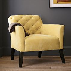 For @Lindsey Carson and her gray and yellow obsession ;)  The Elton Chair in Dandelion from West Elm.