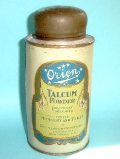 Antique Talcum Powder Tin