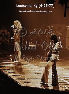 [Proof] Led Zeppelin - Page & Plant #4 [Louisville Ky '77] web sepia dated by michael conen, via Flickr