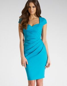 Lipsy Sweetheart Shift Dress (for maid of honor/bridesmaids— but more teal than baby blue)