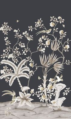 Summer Collection Herading Spring Pavillion-221005 Silk Paper Background, Background Patterns, Braut Make-up, Landscape Wallpaper, Design Seeds, Bunch Of Flowers, Print Wallpaper, Japanese Prints, Chinese Art