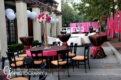 Pink and Brown Wedding
