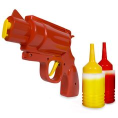 Condiment Gun: Bang bang, you're red (or brown, or yellow). Just think, armed with a Condiment Gun you can re-enact your favourite pistol-based movie moments and add a dash of flavour to your food at the same time.