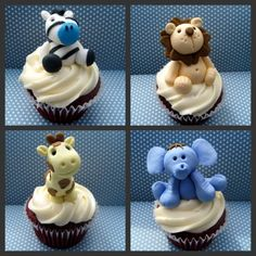 Cute Animals Cupcakes - Could these be any more adorable?