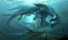 Blue dragon, Sandara Tang on ArtStation at https://www.artstation.com/artwork/qo3oa
