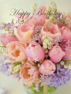 Happy Birthday Bouquet of Flowers! * Happy Birthday Bouquet of Flowers! Happy Birthday Flowers Wishes, Happy Birthday Bouquet, Happy Birthday Mother, Flower Birthday Cards, Birthday Blessings, Happy Birthday Messages, Happy Birthday Greetings, Flowers Birthday Bouquet, Bouquet Flowers