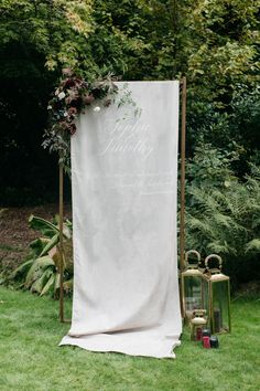wedding altars for all seasons at blanc! flower covered altars, modern altars, eclectic altars, rustic altars, and more! Wedding Kiss, Luxe Wedding, Diy Wedding, Summer Wedding, Wedding Bells, Wedding Ideas, Event Signage, Wedding Signage, Wedding Banners