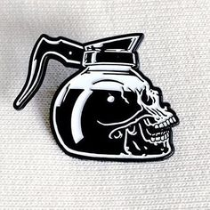 Repost from @nohours - Coffee skull lapel pins are back and going fast! These won't last long so swoop one up before they are gone again. #NoHOURS #coffeeskull #coffee #balckcoffee #limited #skull (Posted by https://bbllowwnn.com/) Tap the photo for purchase info. Follow @bbllowwnn on Instagram for the best pins & patches! #pinsandpatches