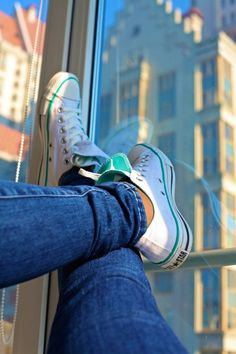 White Converse with a hint of Tiffany Blue. Slightly different from the  simple white. 6c3195683e