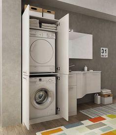 Colonna porta lavatrice e asciugatrice facilissimo nascondere la lavatrice e l 39 asciugatrice - Mobile nascondi lavatrice ikea ...