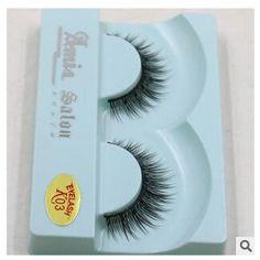 K03/100%Supernatural Lifelike handmade false eyelash 3D strip mink lashes thick fake faux eyelashes Makeup beauty