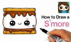 Comply with alongside to learn to draw a cute S'less difficult, step-by-step. Candy, kawaii smore dessert drawing to rejoice summer time tenting. Food Drawing Easy, Cute Food Drawings, Cute Kawaii Drawings, Kawaii Art, Cartoon Drawings, Easy Drawings, Pencil Drawings, Drawing Lessons For Kids, Drawing Skills