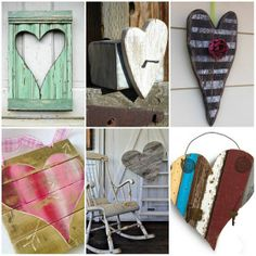 Valentine Hearts - Reclaimed Wood