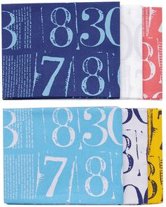 Figures - Numbers - by Zen Chic for Moda Fabrics