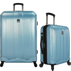 cool U.S Vacationers Piazza 2-Piece Lightweight Expandable Baggage Set - Teal (22-Inch and 30-Inch)
