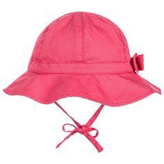 2bfd0de79c5 Petit Bateau - Baby Girls Bright Pink Cotton Sunhat