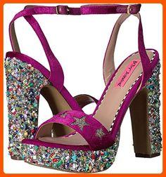 Betsey Johnson Women's Kenna Dress Sandal, Magenta Multi, 8.5 M US - All about women (*Amazon Partner-Link)