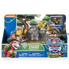 2016 Nickelodeon/spin Master Paw Patrol Tracker & Mandy Jungle Rescue Set for sale online Paw Patrol Gifts, Paw Patrol Rescue, Friend Logo, Diy Barbie Clothes, Kids Tv Shows, Preschool At Home, Safari Party, Jungles, Books For Boys