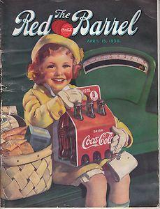 """*COCA-COLA ~ """"The Red Barrel"""" Magazine 1938"""