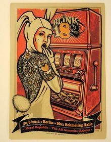 BLINK 182 - GERMANY - BERLIN - LARS KRAUSE - TOM DELONGE- 2012 -TOUR POSTER