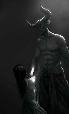Begging the Demon Art by Assumzaek on Ange Demon, Demon Art, Horror Art, Horror Movies, Character Inspiration, Character Art, Beautiful Dark Art, Satanic Art, Arte Obscura