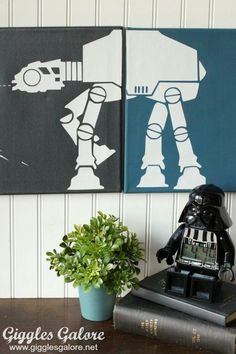 Make your own DIY Star Wars Canvas Wall Art. This custom art work is perfect for any boys bedroom and simple to make with just a few supplies.