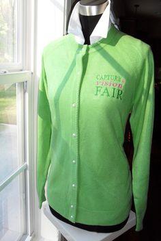 """""""Capture a Vision Fair"""" AKA green cardigan"""