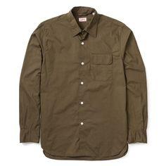 Arpenteur Ted Shirt - Olive - LATEST - Superdenim