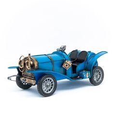 Miniatura Carro Antigo Conversível - Azul - Machine Cult - Kustom Shop | A loja das camisetas de carro e moto