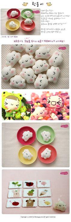 Kawaii felt toys